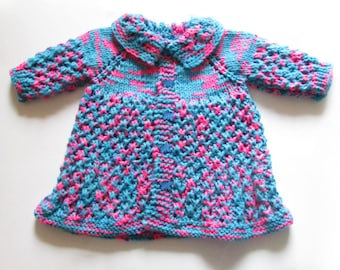 Hand-Knitted Baby Girl Sweater/Jacket