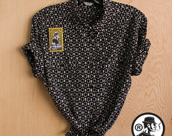 Vintage Blouse CoCo Chanel inspired, Made in Japan in the 90's -Hadio 5025