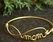 Infinity Bracelet for Mother, Eternity Brass Wire Bracelet, MOM bracelet, Mother's Day Gift, Infinity Mom, Jewelry for Mother