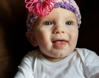 Multi-Colored Flower Headband