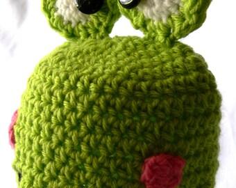 Frog Crochet Hat