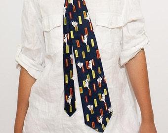Vintage Disney 101 Dalmatians Unisex Silk Tie