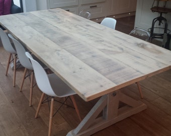 Rustic Reclaimed Driftwood Dining Table