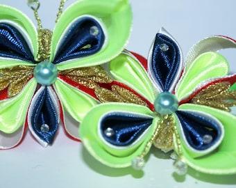 scrunchy butterfly, scrunchy, hair elastic kanzashi, kanzashi, butterfly, butterfly kanzashi, gift, free shipping