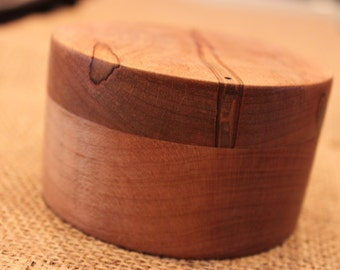Lidded Wooden Box, Hand Turned, Solid Wood