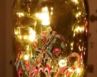 Wine Bottle Lamp with Cross