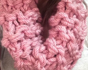 Pink Arm Knit Scarf