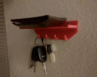 3D Printed Key Holder with Shelf