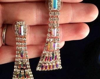 Swarovski Aurora Borealis Earrings- J1020