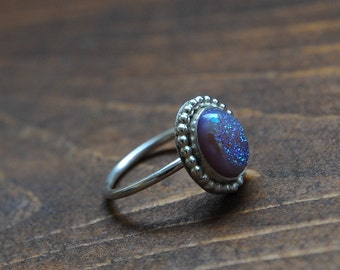 Lilac Window Drusy Sterling Silver Ring