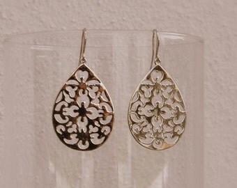 Brilliant Silver earrings filigree