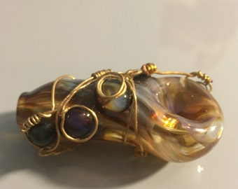 Wire Wrapped Tobacco Spoon
