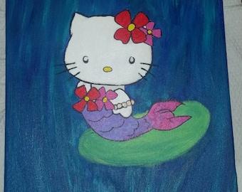 Hello Kitty Canvas Painting
