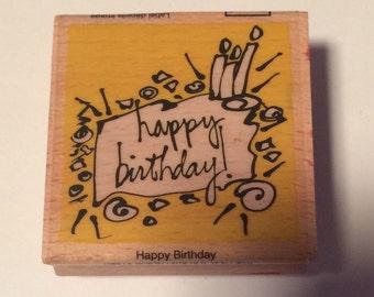 Happy Birthday Festive Stamp