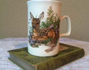 Vintage Ashdale Woodland Creatures Set of 4 Coffee Cups