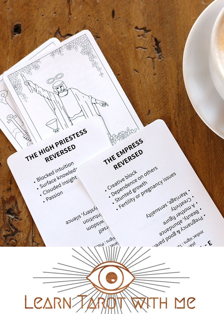 Obsessed image with printable tarot flashcards