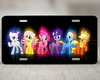 My Little Pony Friendship is Magic Aluminum License Plate