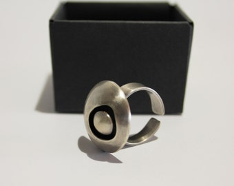 Unique sterling silver adjustable ring