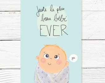 Baby card // Congratulations for your new baby