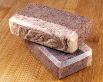 Cedarwood Jasmine Exfoliating Handmade Soap // All Natural & Vegan