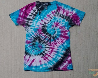 Deep V-Neck Custom Tie Dye T-shirt