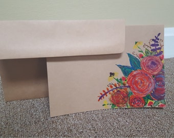 """Hand Painted """"Just Because"""" Card"""