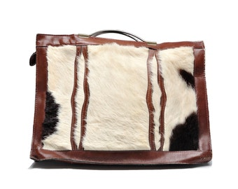 Vintage Genuine Leather Cowhide Purse