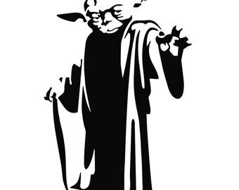 Yoda Head Outline Yoda silhouette – Et...