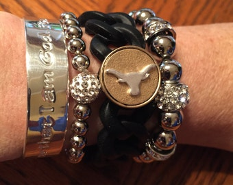 College Cuff University of Texas Longhorns bracelet