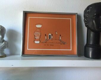 "Vintage ""On the Throne"" print by Jane Baldice"