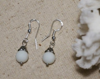 White Crystal Casual Everyday Earrings Gift Friend for Her
