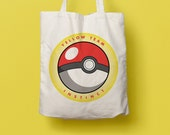 Tote bag Pokemon Go, yellow team, instinct, pokeball, dust bag, geek, shopping bag