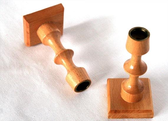 Kerzenständer Holz Geschnitzt ~ Holz Kerzenständer Holz Kerzenhalter Paar Leuchter Paar Leuchter paar