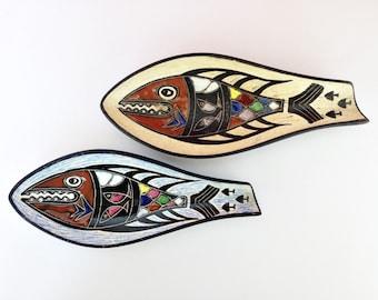 Mid Century Ceramic Fish Bowl - Eames Era