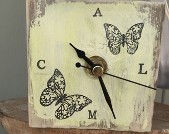 Butterfly Clock Etsy