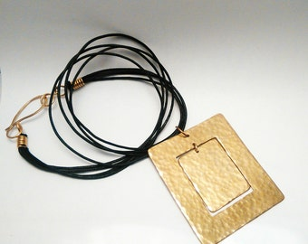 Handhammered Brass Necklace (MADE TO ORDER)
