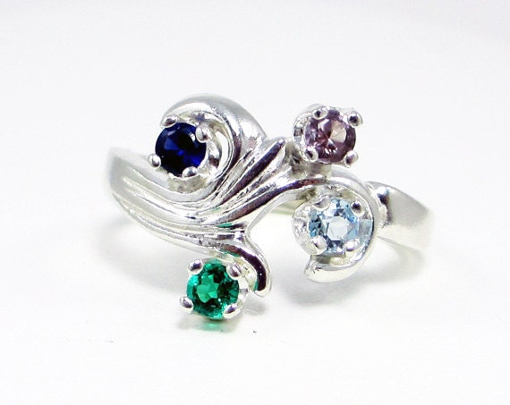 alexandrite emerald sapphire and aquamarine mothers by aerluna
