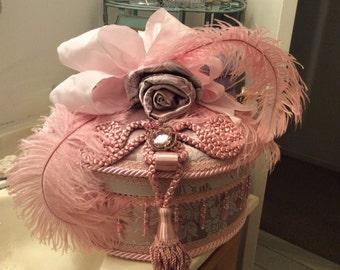 Pretty In Pink Victorian Hatbox