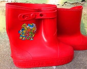 Children's Rain Boots- Sesame Street Vintage size 11-12