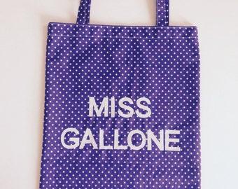 Teacher Tote Bag. Personalised, handmade, book bag. Teacher gift.