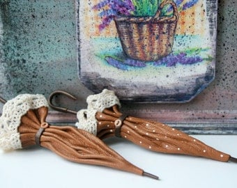 Leather brooch umbrella,leather umbrella,leather jewelry parasol,leather accessories,leather jewelry, leather gift