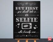 Selfie Station Sign | Printable Wedding Sign | Chalkboard | Card Table Sign | 2 sizes 8x10, 5x7 | Instant Download | Signage,Decor | JPG |