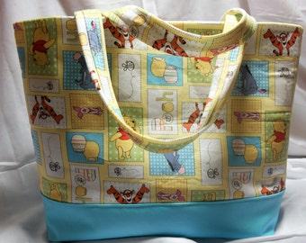 Winnie the Pooh Diaper Bag-Tote, Carry on bag, Pooh Bear Diaper Bag, Winnie Tote Bag, Winnie the Pooh Nursery, winnie the pooh diaper bag