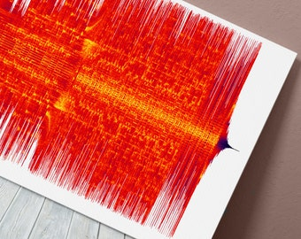 The Weeknd - Cant Feel My Face - 24x8 Canvas, Poster or Digital Image - Free P&P, Sound Wave Art, Audio Art