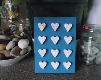 Recycled Junk Mail Heart Canvas