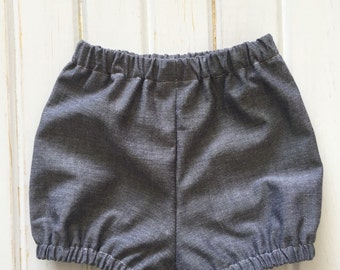 BALANCE - Bloomers/cache layer for girl, pattern denim grey/black