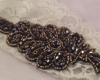 Beaded wedding /prom garter for that special day
