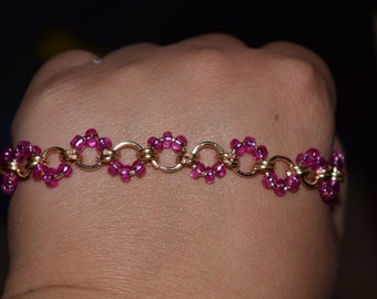 Pink and Gold delicate bracelet