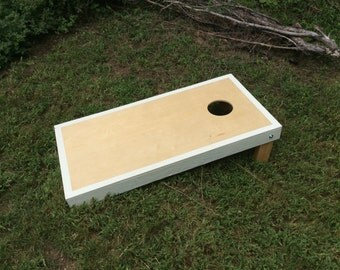 Waterproof finished cornhole board, lightweight, edge trimmed white, Bag toss, collapsible, outdoor game