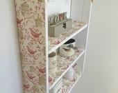 70 cm H x 54 cm W Pine White Shabby Chic Bird Cage Shelves Kitchen Bedroom Bathroom Shelves.